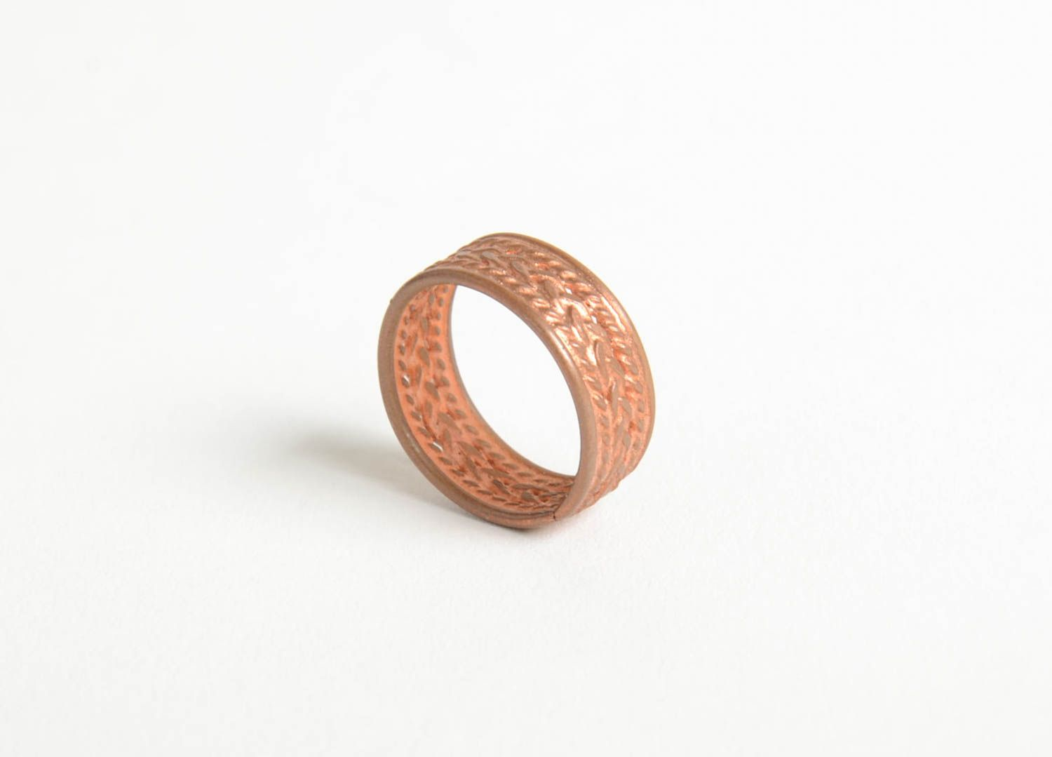 Stylish handmade copper ring metal ring design accessories for girls gift  ideas