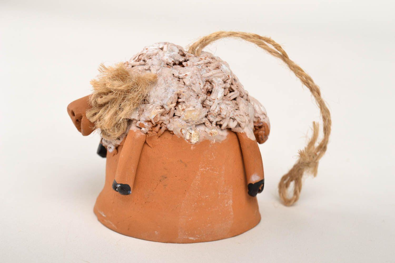 Handmade beautiful figurine ceramic lovely souvenir designer painted accessory photo 4