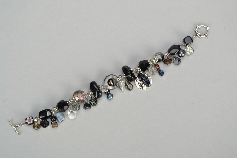 pulseras con dijes Pulsera bonita con dijes de cristal en técnica de lampwork - MADEheart.com