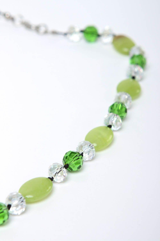 collares de piedras naturales Collar artesanal bonito de ónix y cristal bisutería de moda regalo para