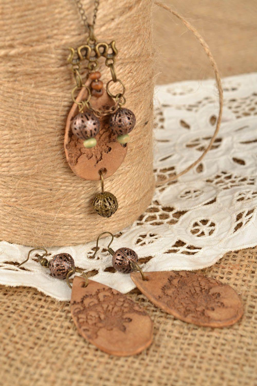 Set of clay jewelry Ethnic photo 1
