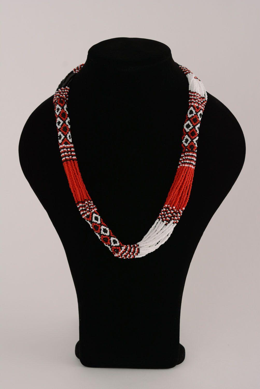 Beautiful ethnic beaded necklace photo 3