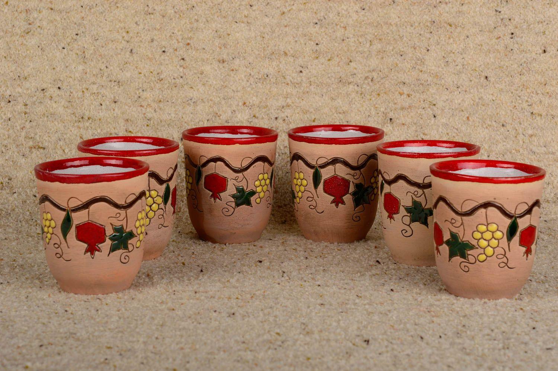 Ensemble de verres fait main Verres à eau Vaisselle design belle originale photo 1