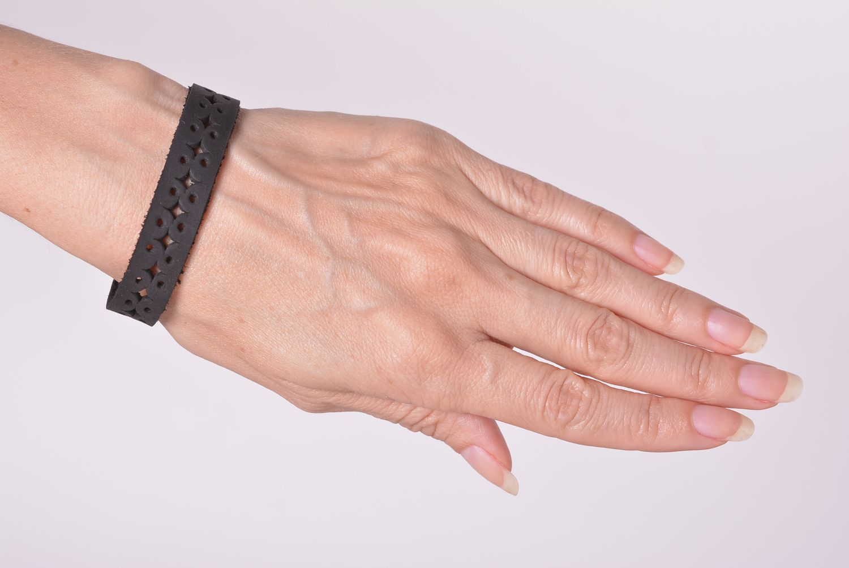 Handmade leather bracelet leather bracelets for women leather jewelry photo 3
