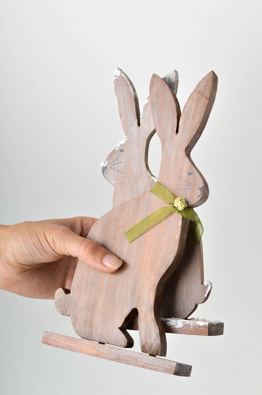 decoracin del ao nuevo figuras artesanales de madera decoracin navidea adornos de navidad conejos madeheart