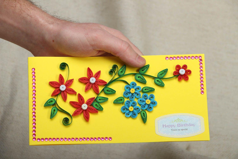 Handmade greeting card Happy Birthday photo 4