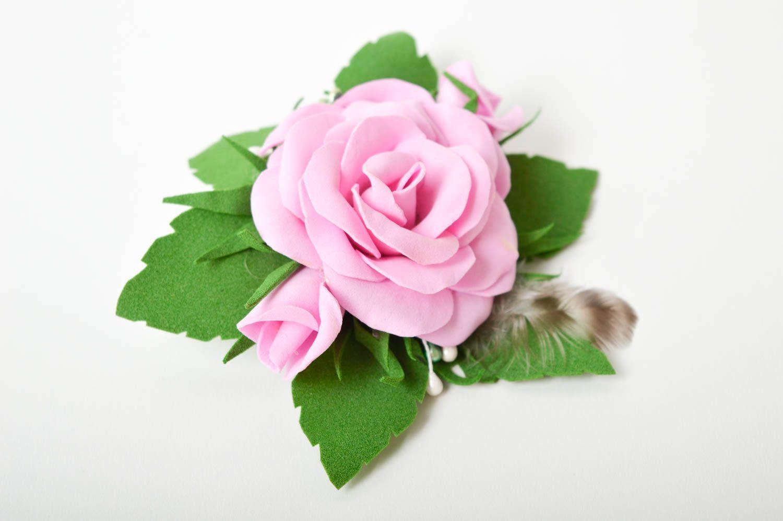Handmade barrette foamiran hair clip flower hair accessories gift for girl photo 9