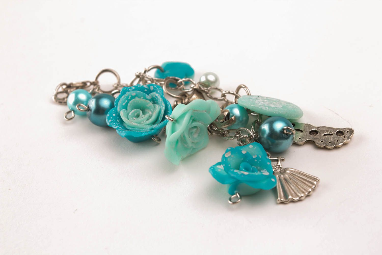 Polymerton Armband Blaue Rosen foto 3
