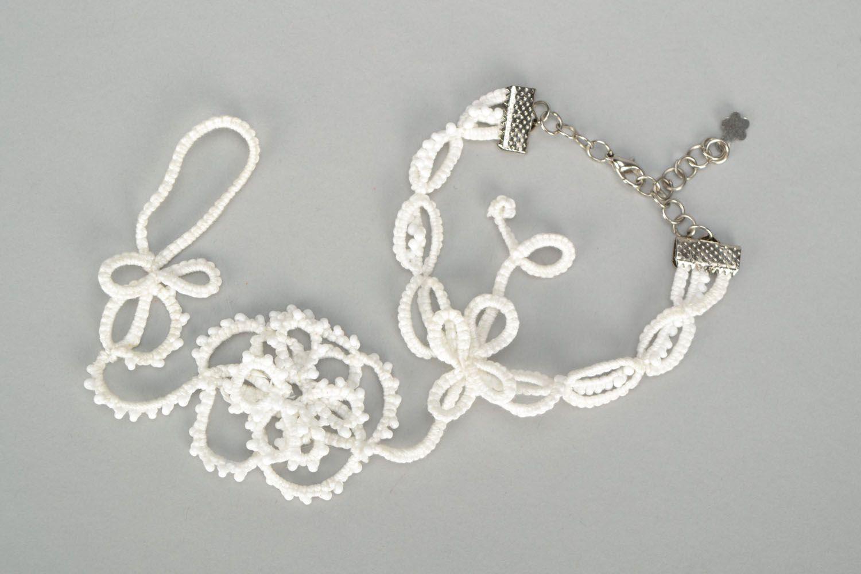 Tatting necklace photo 4