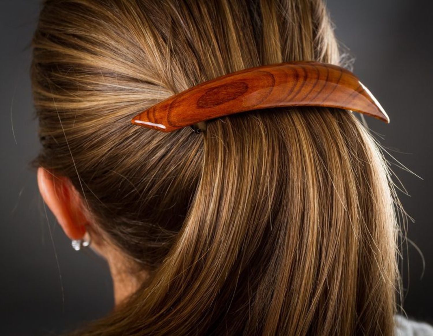 Hair clip made ​​of wood photo 2