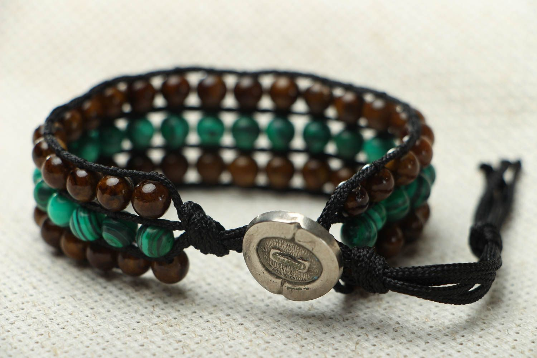 Designer bracelet with onyx and malachite photo 3