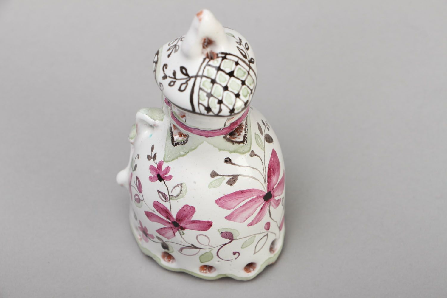Decorative clay bell photo 2