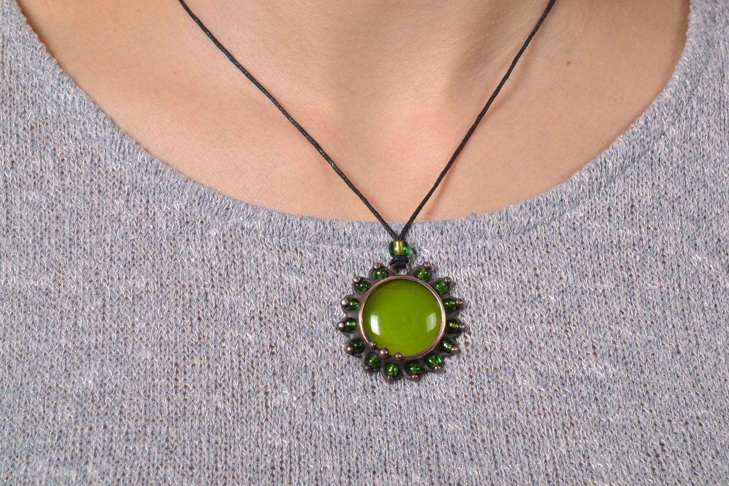 Stained-glass pendant Olive photo 5