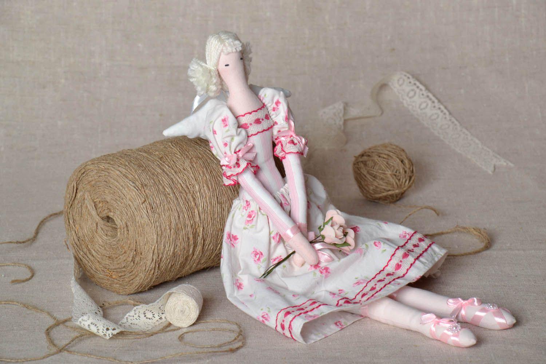 Interior doll made of natural fabrics photo 1