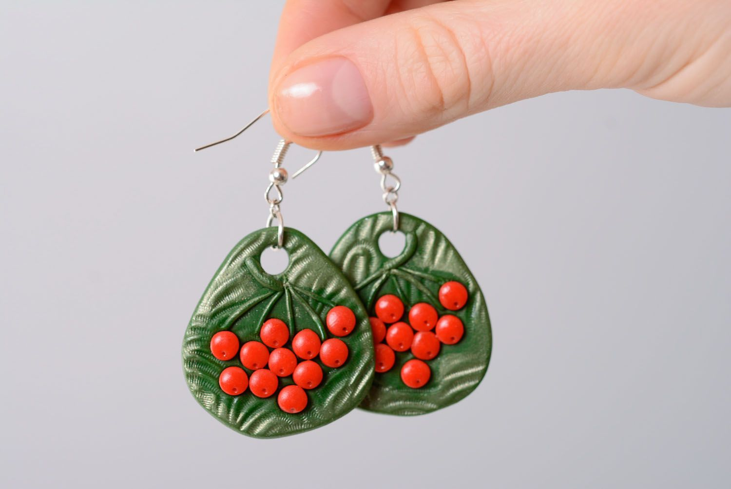 Polymer clay earrings photo 4