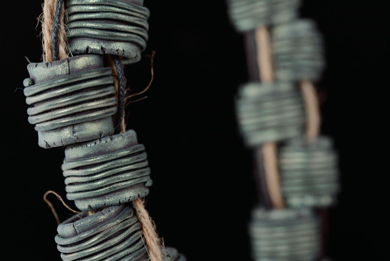 Waxed cord necklace Electro photo 2