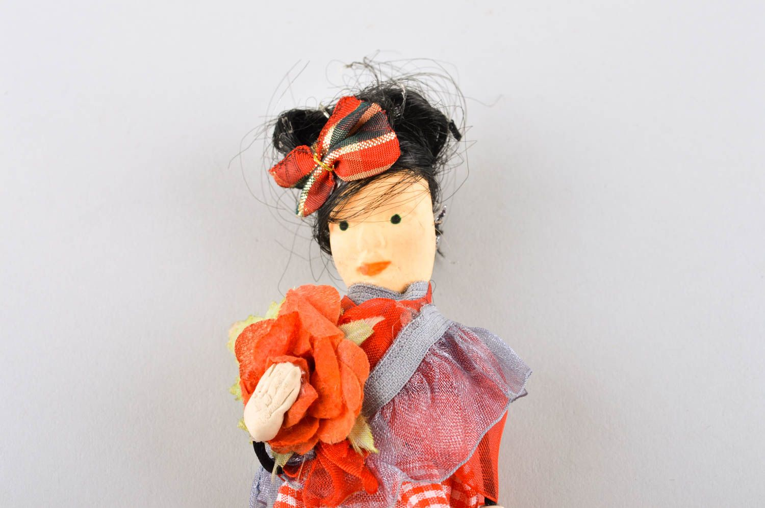 Beautiful handmade fabric toy rag doll collectible dolls decorative use only photo 3