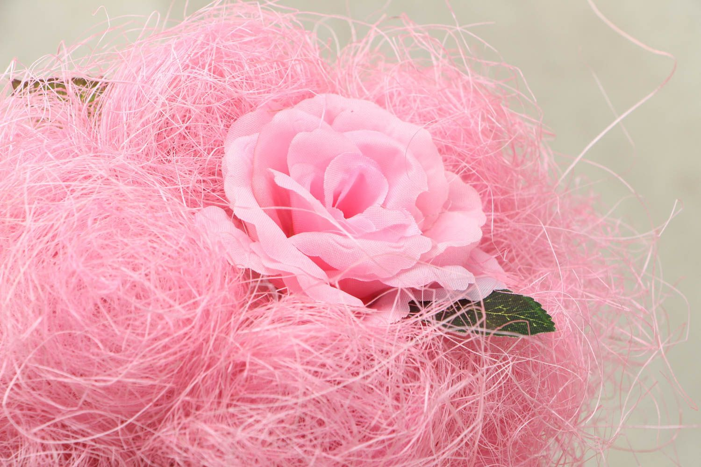 Pink handmade topiry photo 2
