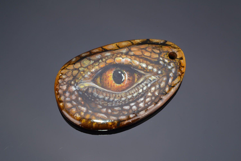 Tiger's eye stone pendant photo 1