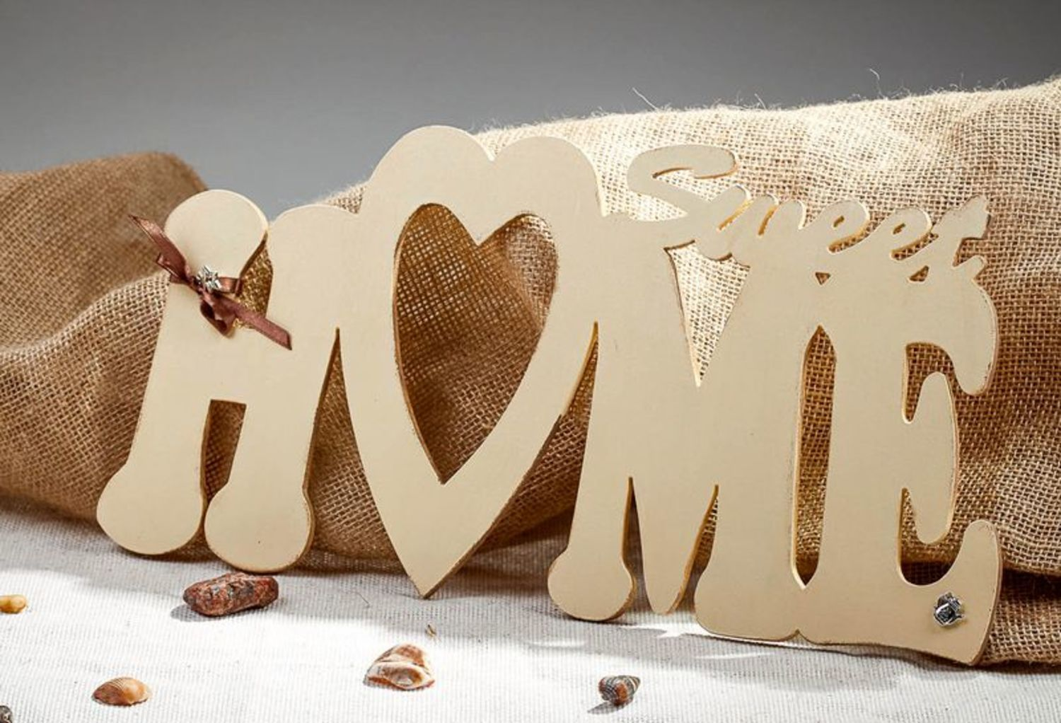 Chipboard lettering for scrapbooking Sweet HOME photo 1