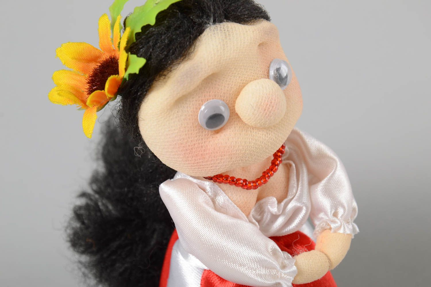 Unusual handmade soft toy rag doll cute toys collectible dolls home design photo 3