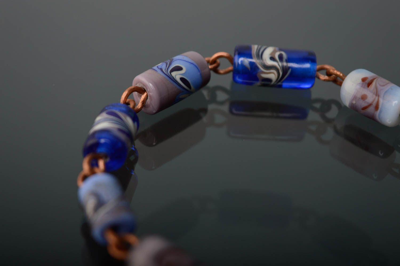 Schönes Armband aus Glas in Lampwork Technik foto 2