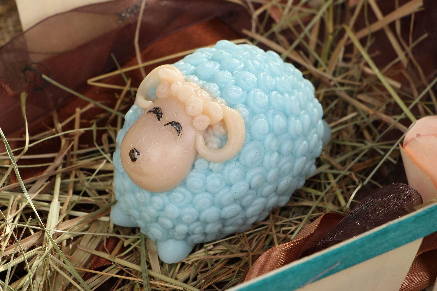 Natural soap in the form of a lamb photo 4