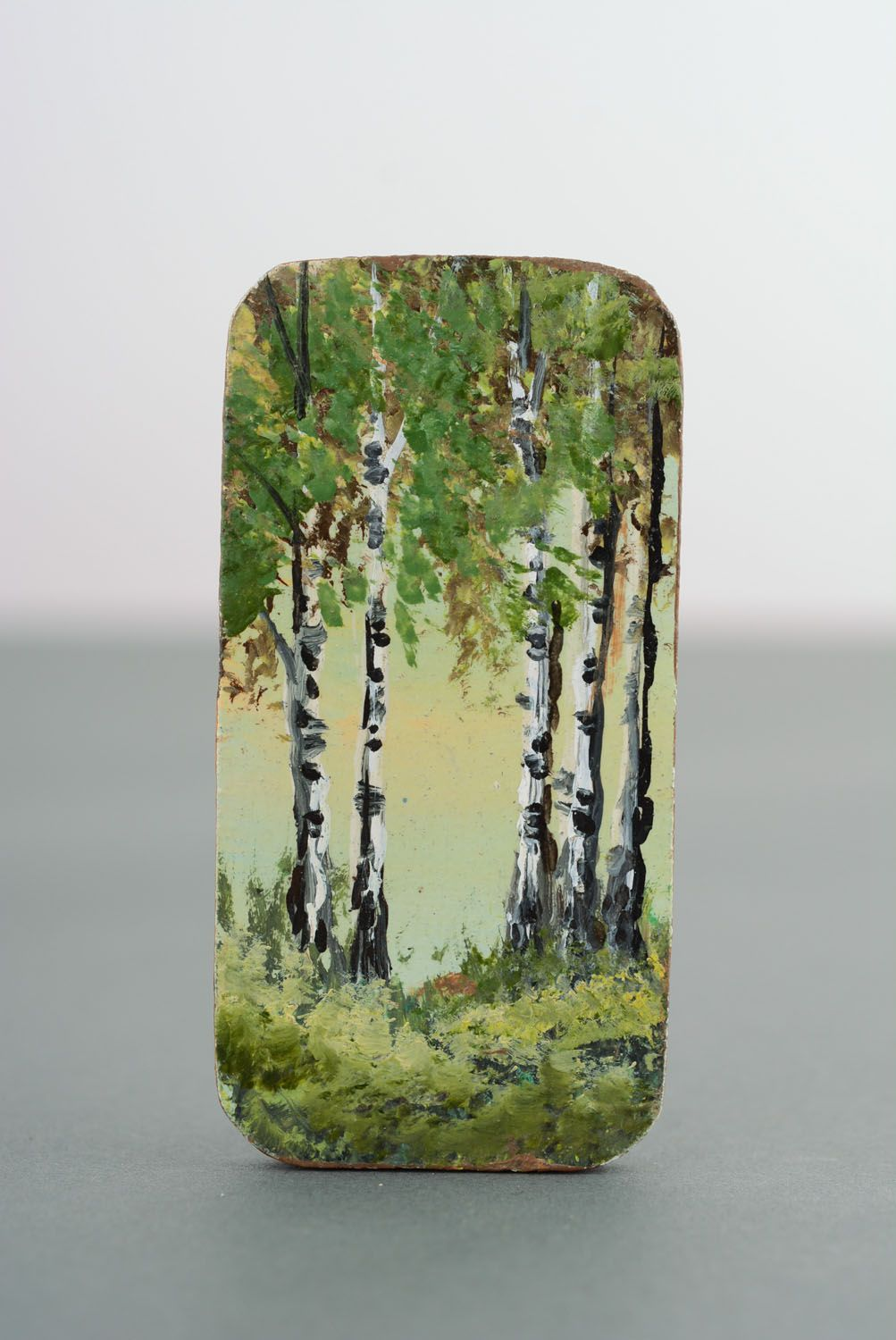 Wooden fridge magnet In the Birch Grove photo 4