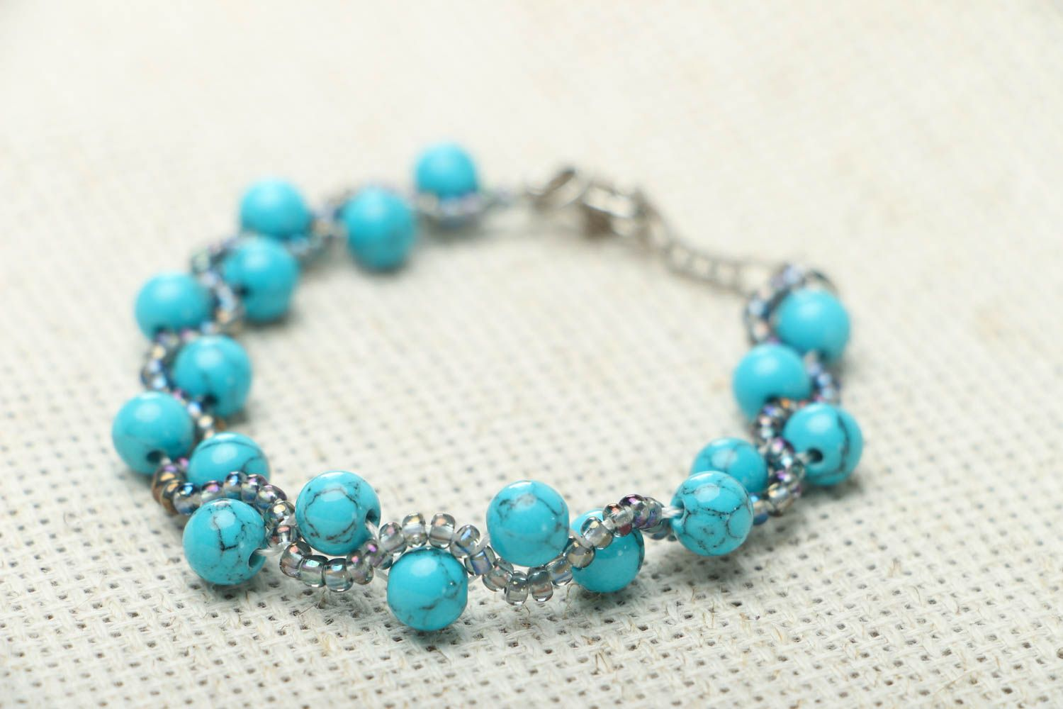 Bracelet with turquoise stone photo 2
