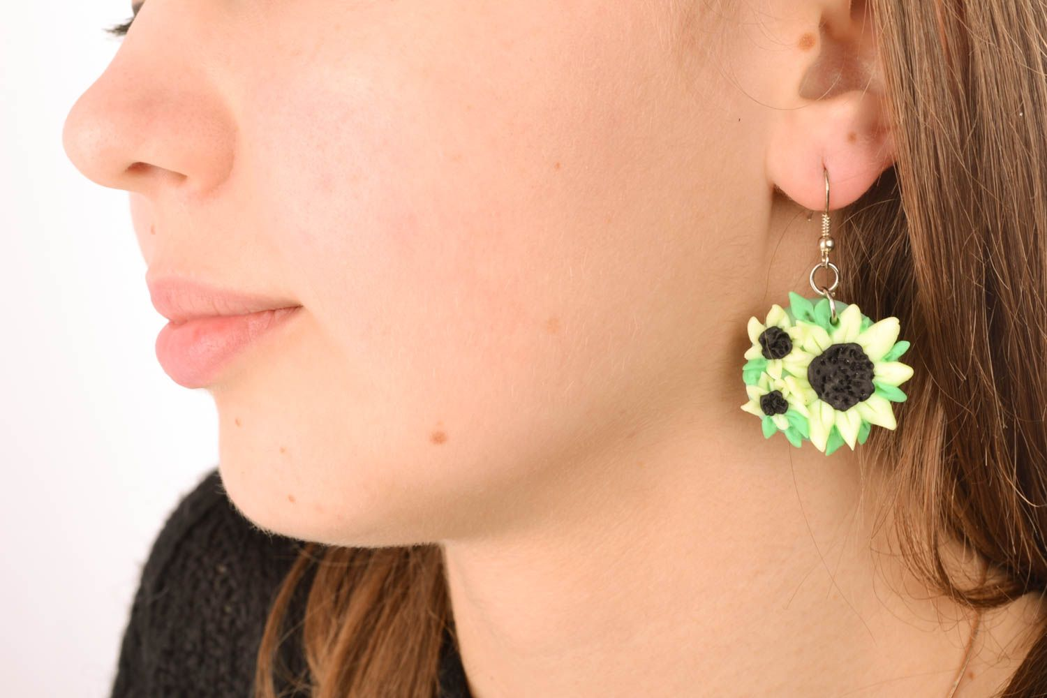 Polymer clay earrings Flowers photo 5