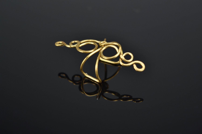 Latten wire wrap ear cuff Curl photo 1