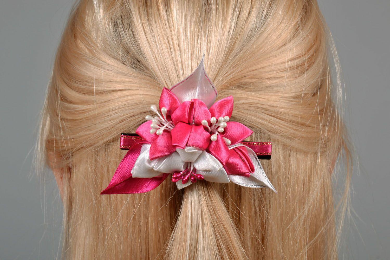 Satin hair clip Bouquet photo 1