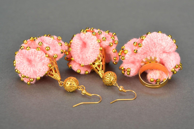 Crochet jewelry set Cake photo 3