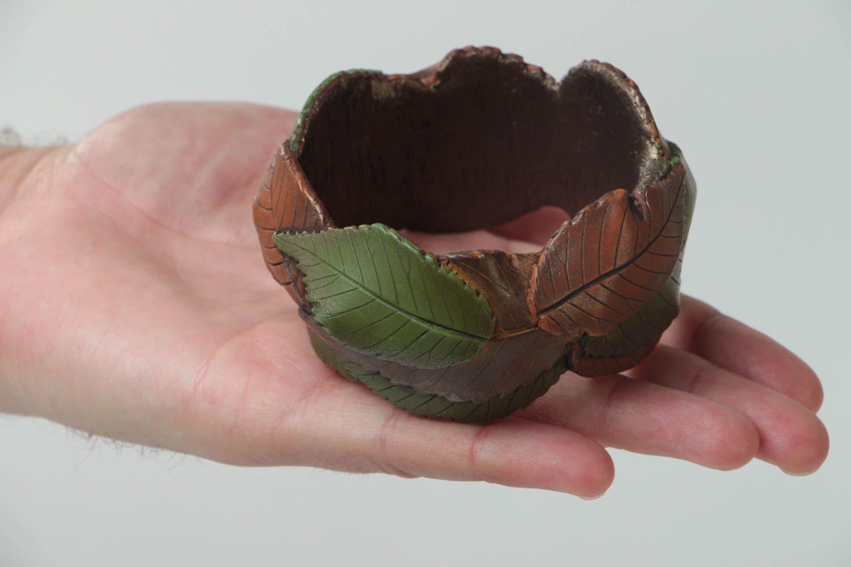 polymer clay bracelets Unusual handmade plastic bracelet wrist bracelet designs polymer clay ideas - MADEheart.com