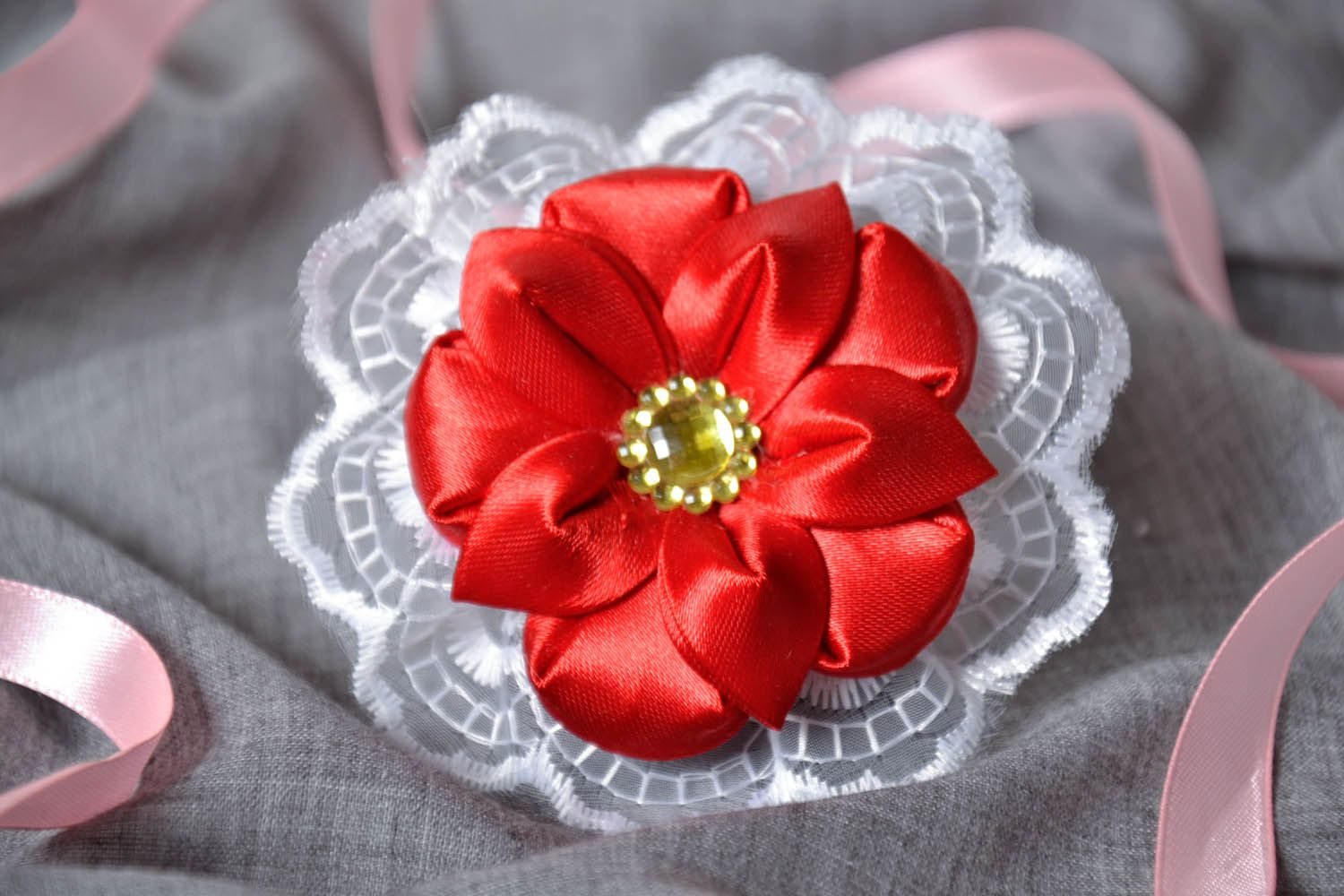 Scrunchy Red Flower photo 1