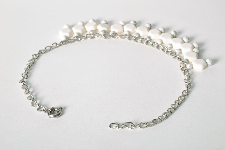 Halskette aus Kalmückenachat und Koralle foto 3