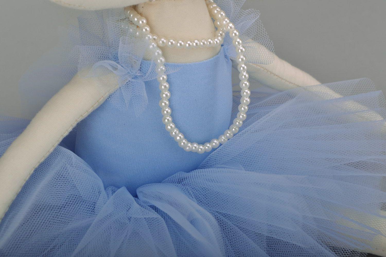 Fabric doll Girl in blue tutu photo 3
