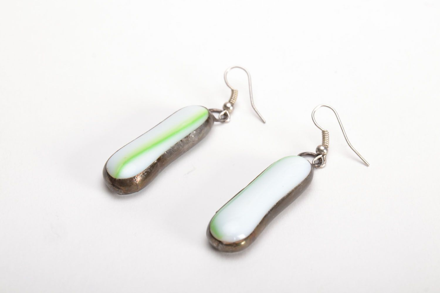 Glass earrings photo 2