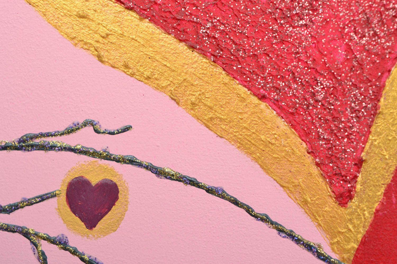 Handmade wall panel Two Hearts photo 4