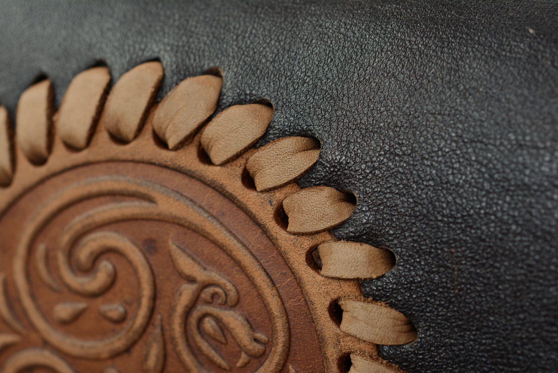 Men's leather belt bag photo 3