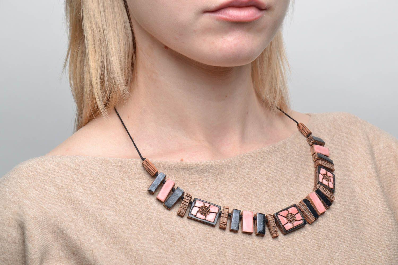 Ethnic ceramic necklace photo 2