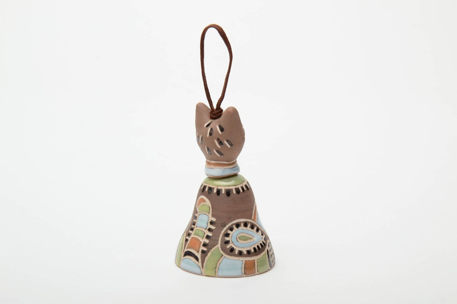 Ceramic bell in the shape of cat photo 3