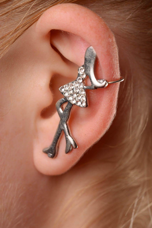Metal earring Let's go shopping photo 3