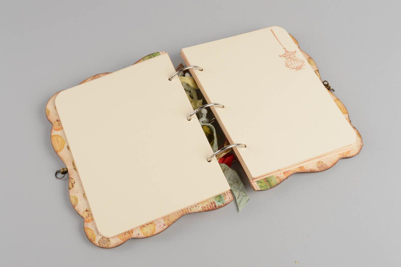 grand Prix nouveaux styles ventes spéciales Carnet de notes scrapbooking beige avec anneaux fait main cadeau original