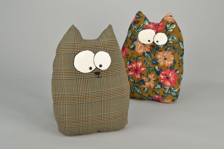 Котики-подушки своими руками