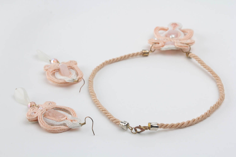 Soutache cord jewelry set photo 3