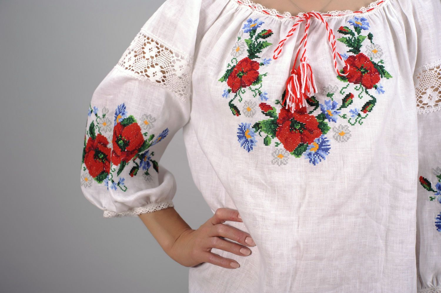 Linen embroidered shirt photo 1