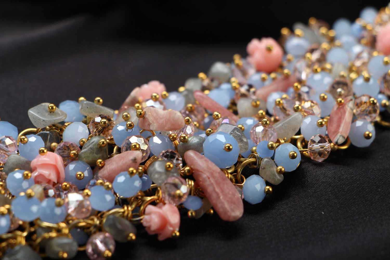 Handmade bracelet with labradorite photo 3