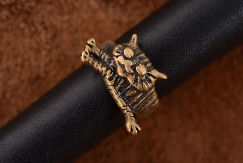 Bronze ring Cat photo 2