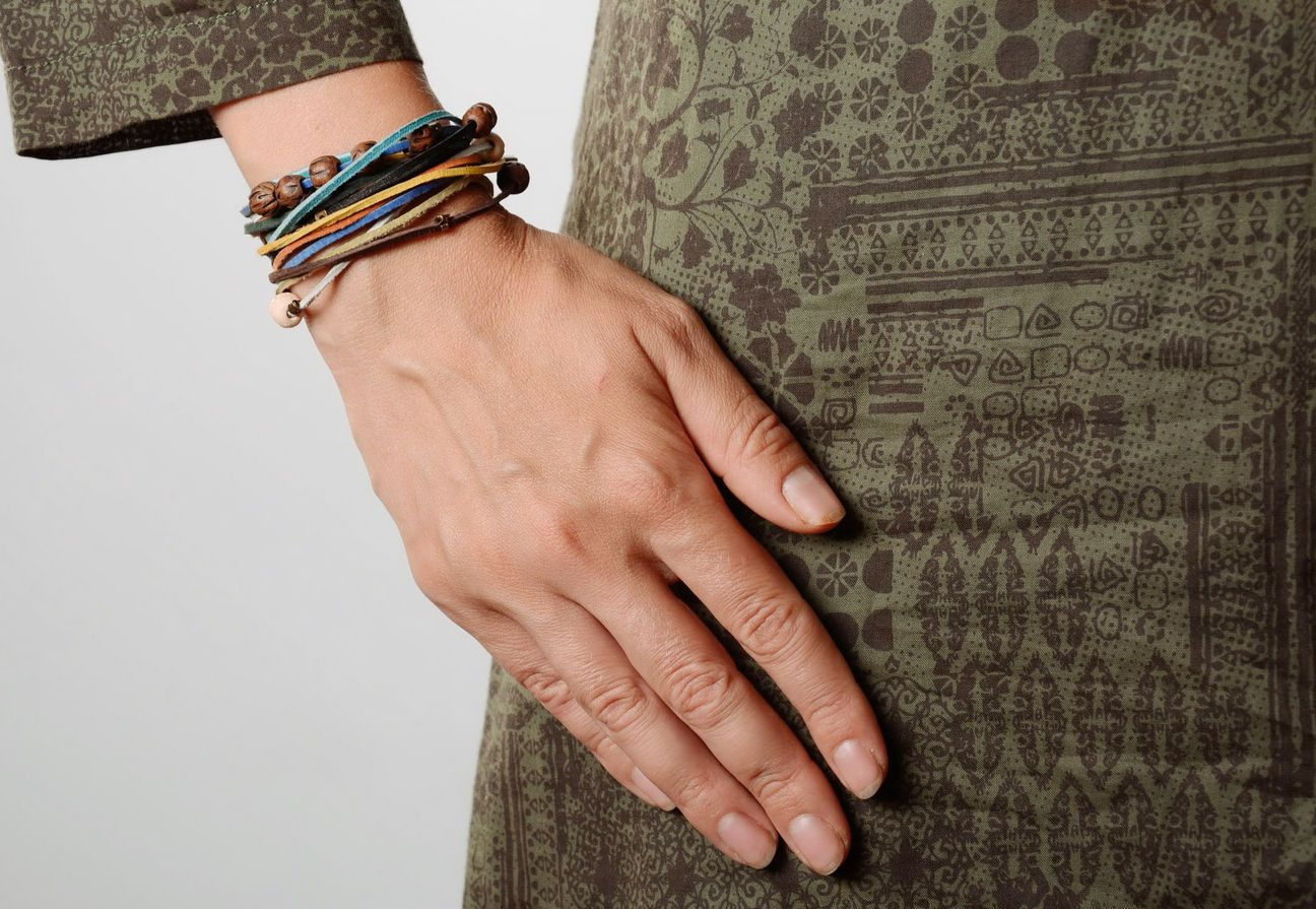 gemstone bracelets Wrist clay bracelet  - MADEheart.com